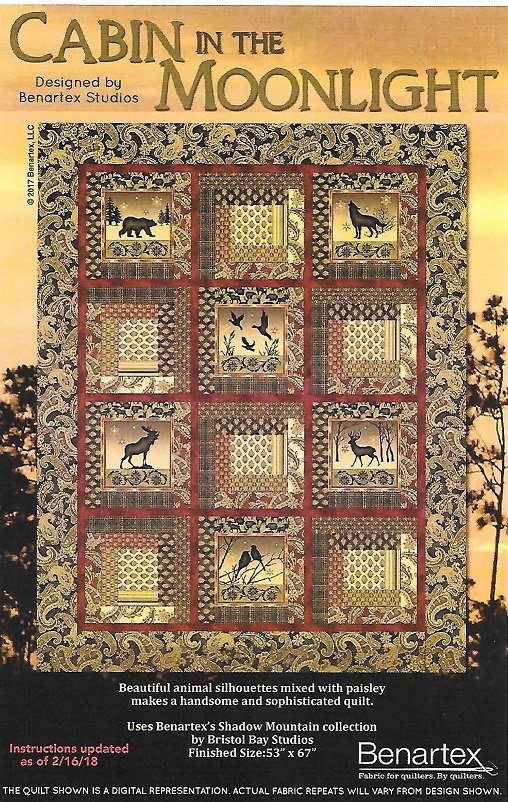 SALE-Cabin in the Moonlight quilt kit