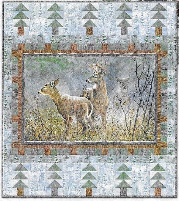 Winter Whispers--Deer Quilt