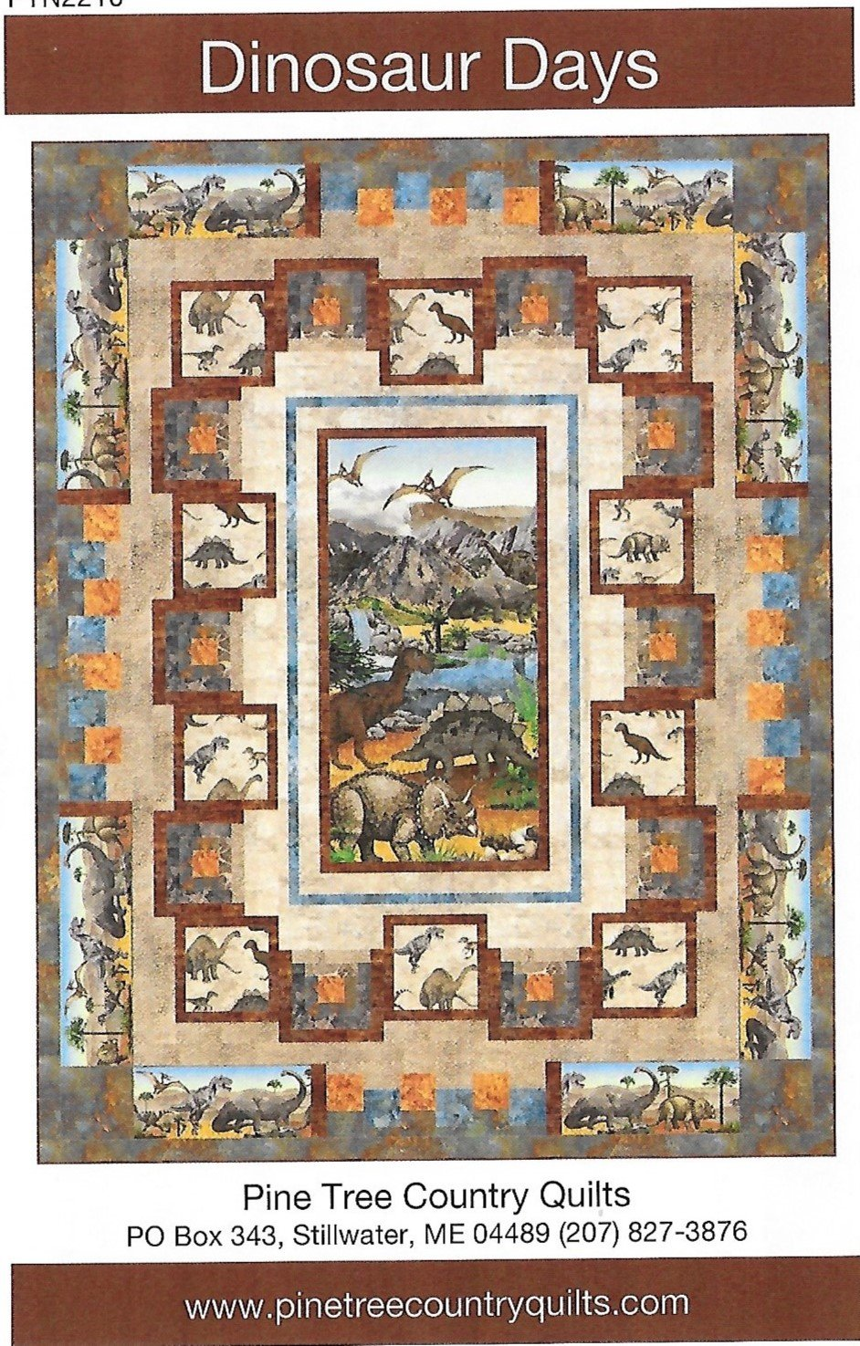 Dinosaur Days twin quilt kit