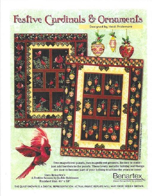 Festive Cardinals wall quilt