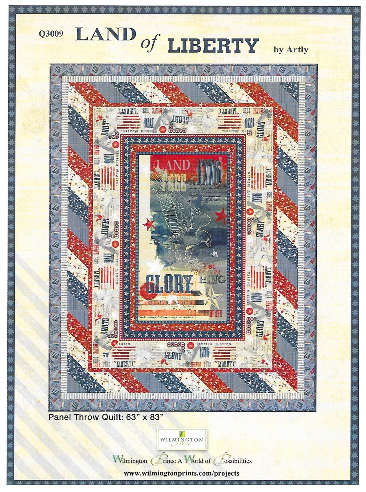 Land of Liberty Throw quilt kit