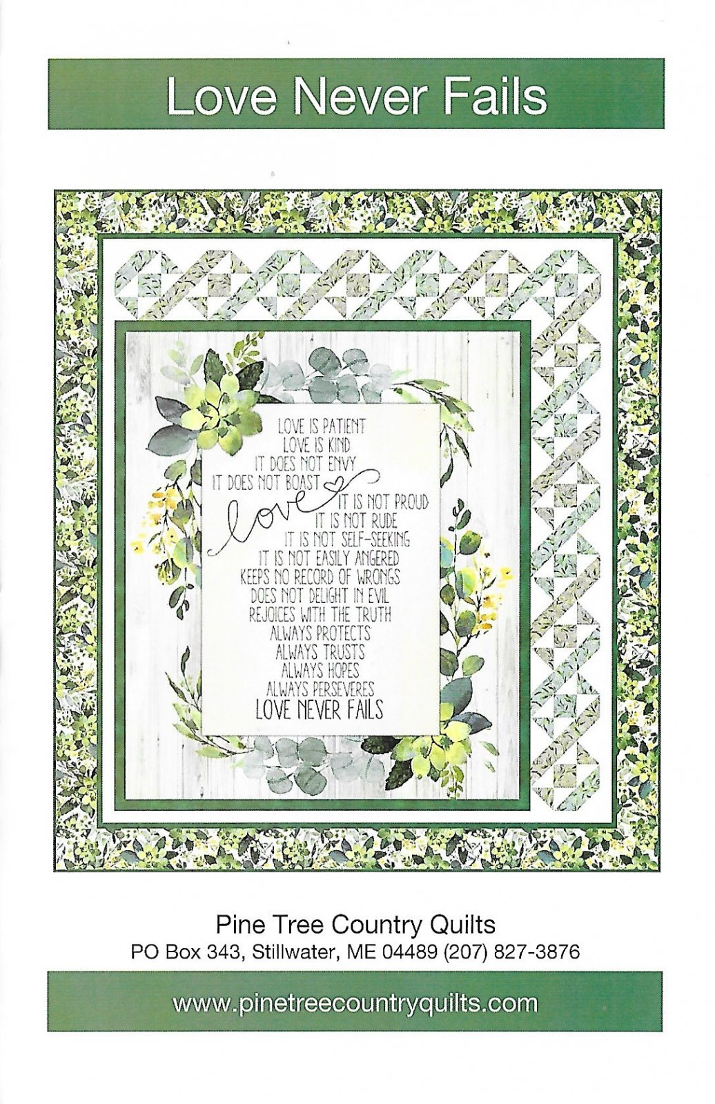 Love Never Fails Wall hanging kit