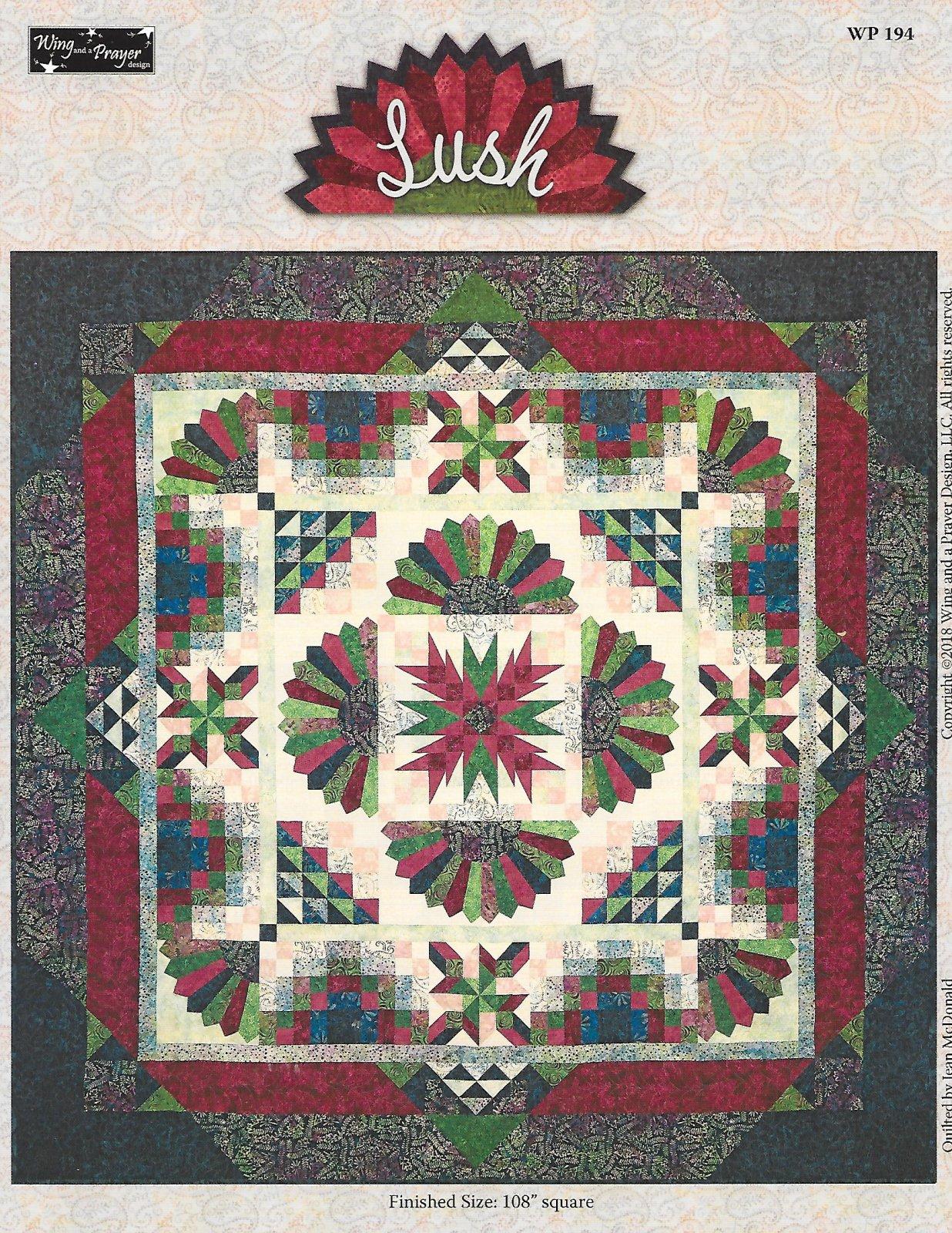 SALE-Lush Batik queen  quilt kit