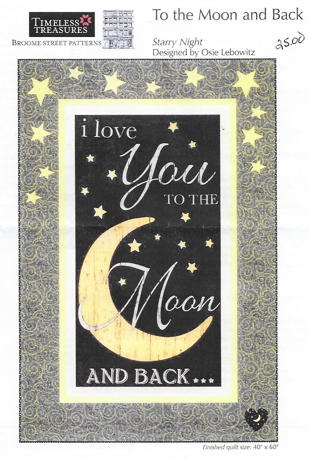 I Love You to the Moon and back baby quilt kit
