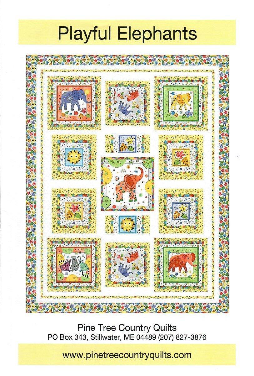 Playful Elephants quilt kit