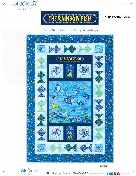 Rainbow Fish throw quilt