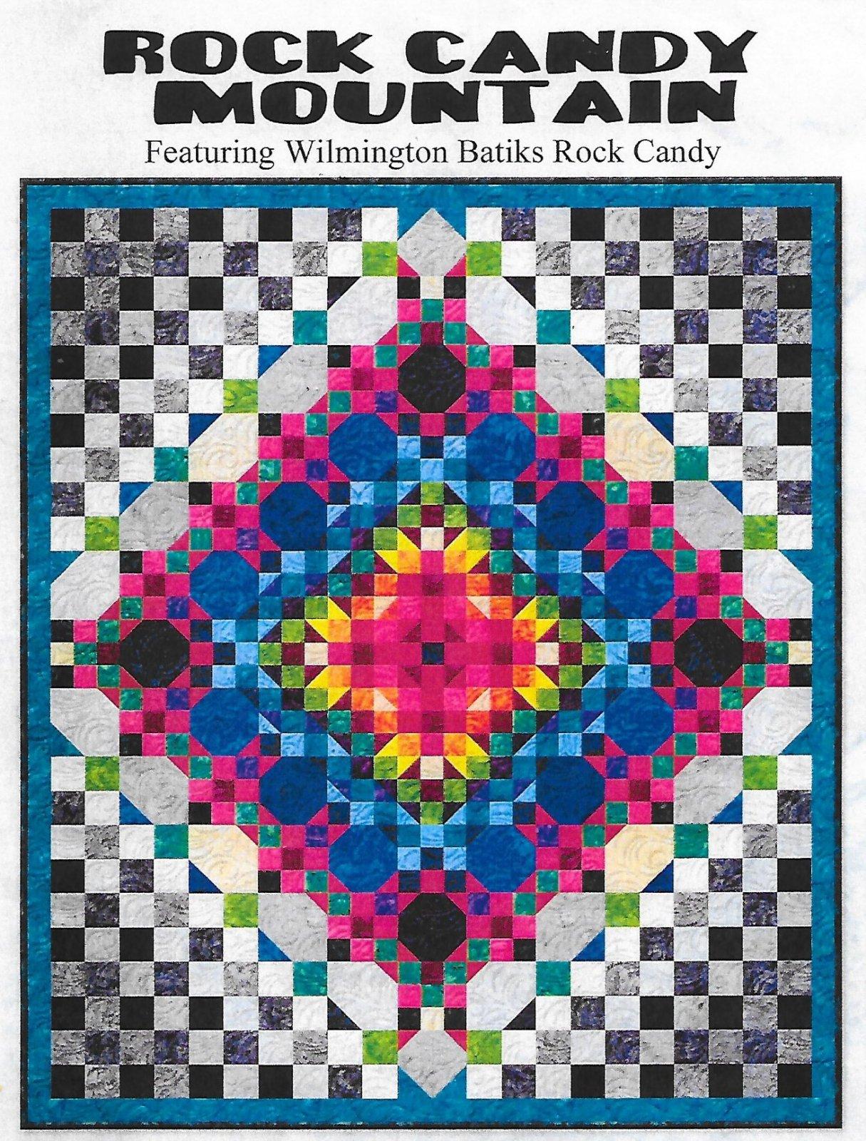 Rock Candy Batik Quilt kit in 2 sizes
