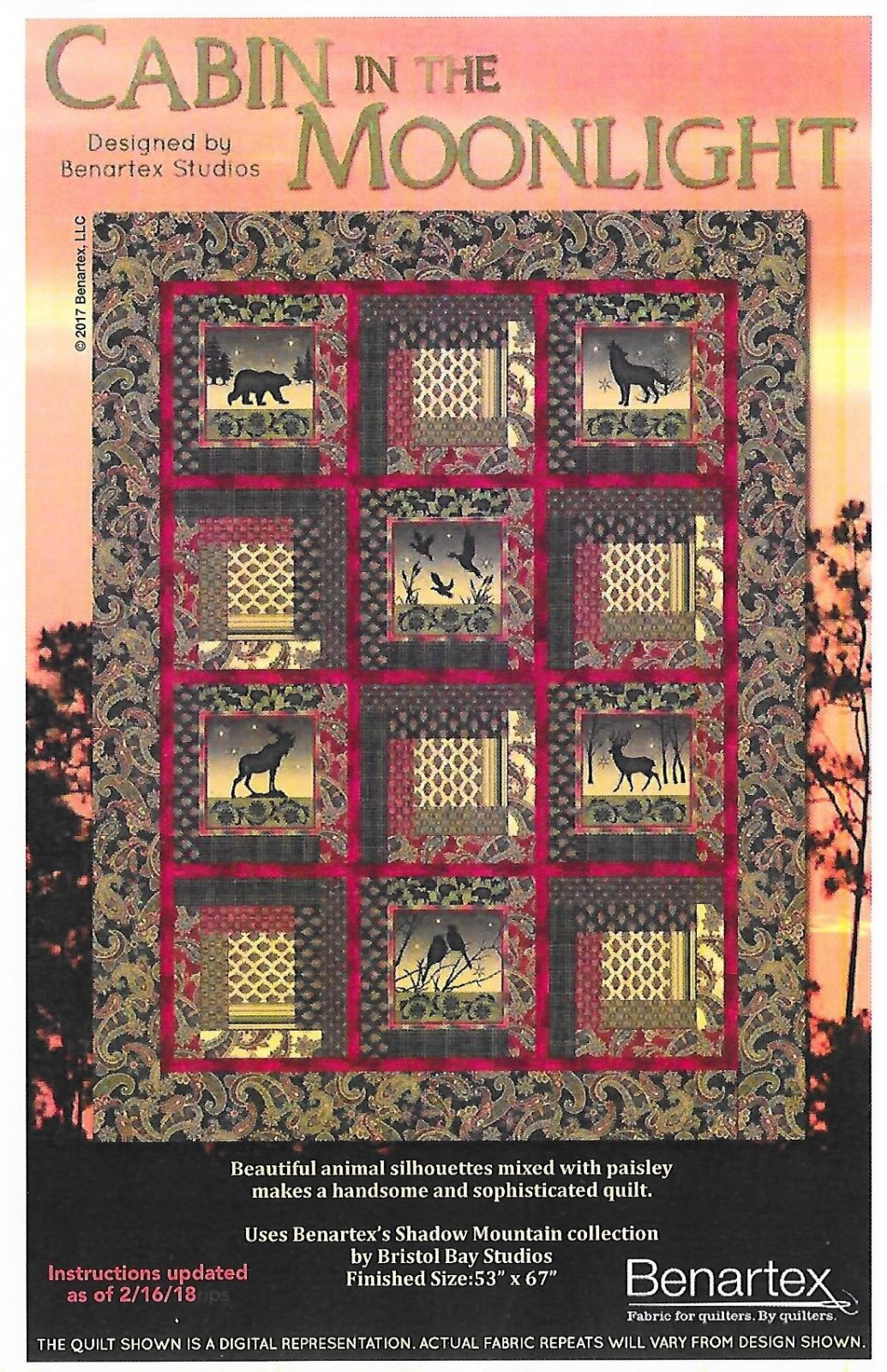 Cabin in the Moonlight Quilt Kit