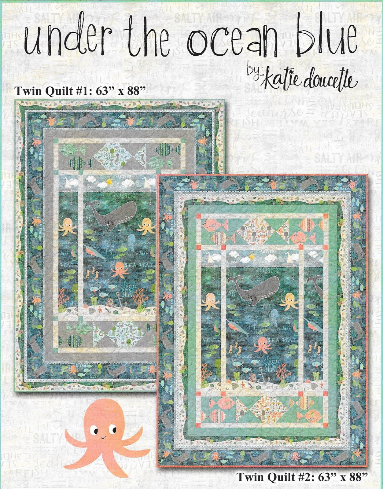 Under the Sea twin sized quilt kit