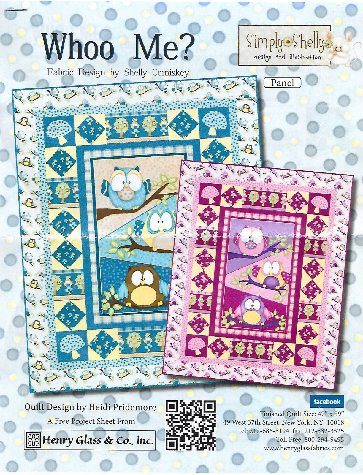 Who Me?? Baby Quilt-Blue