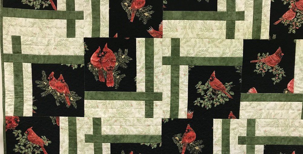 Winter Cardinals Quilt Kit