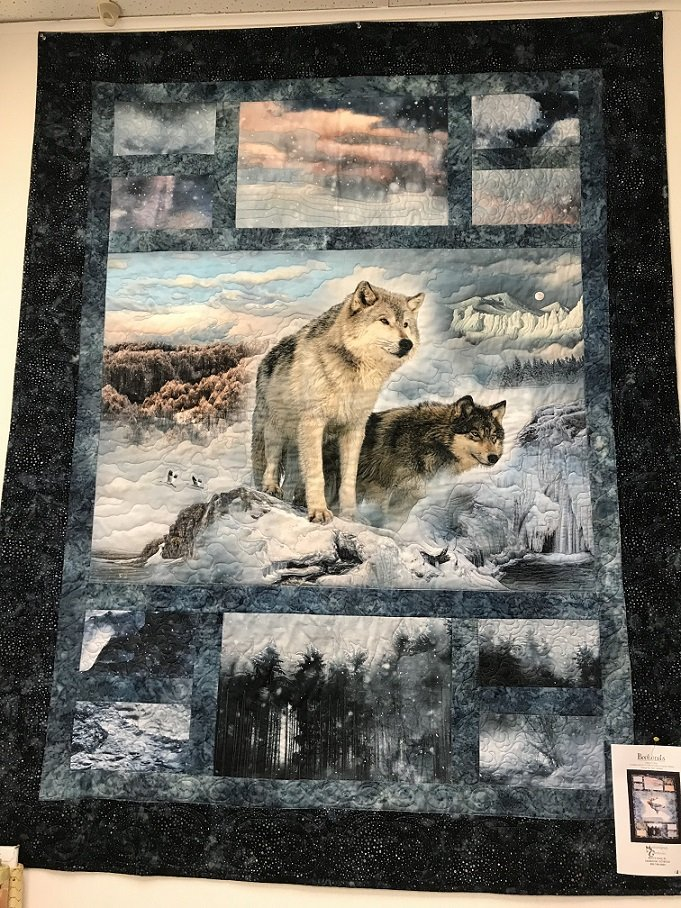 Wolves of the Wild lap quilt