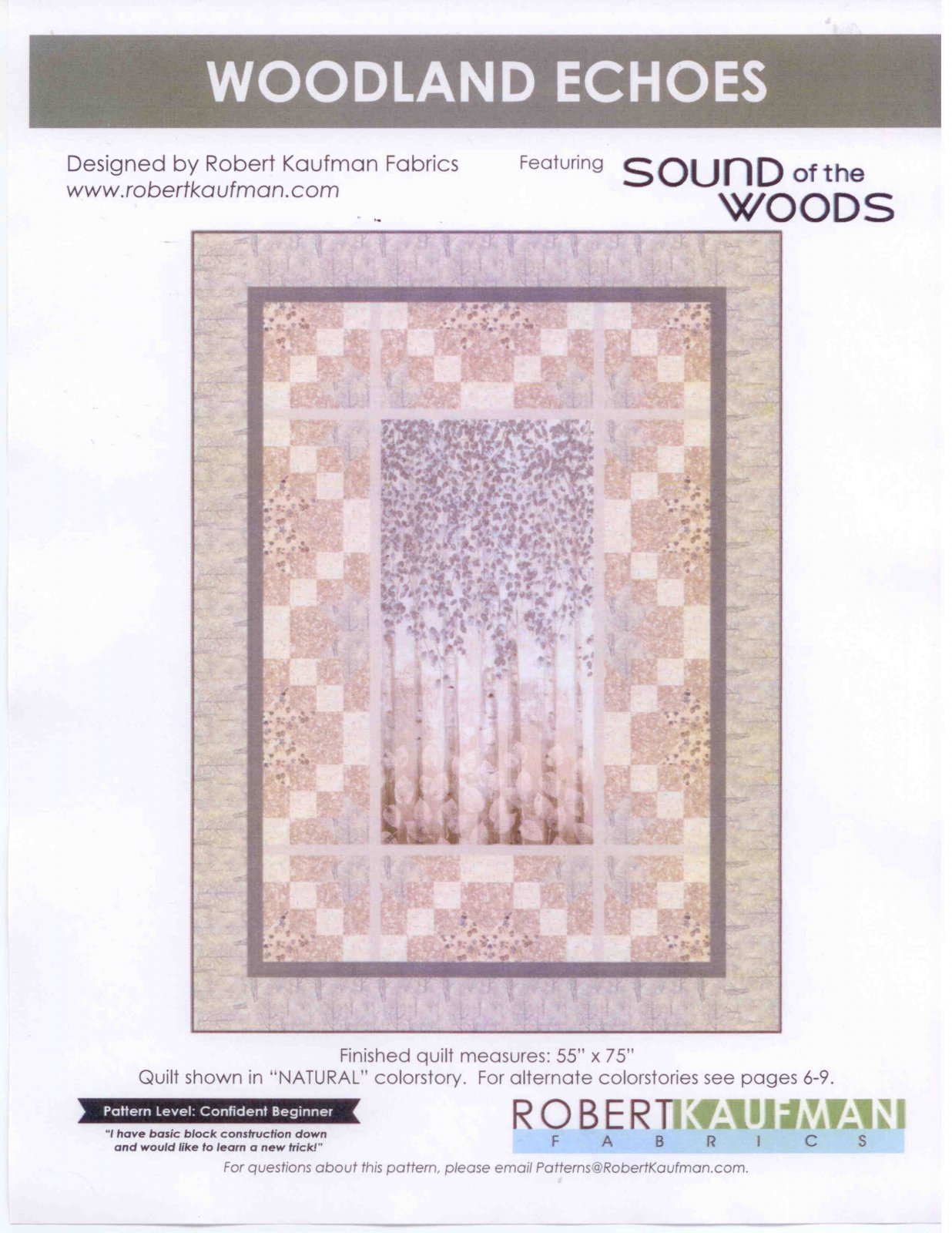 Woodland Echos quilt kit