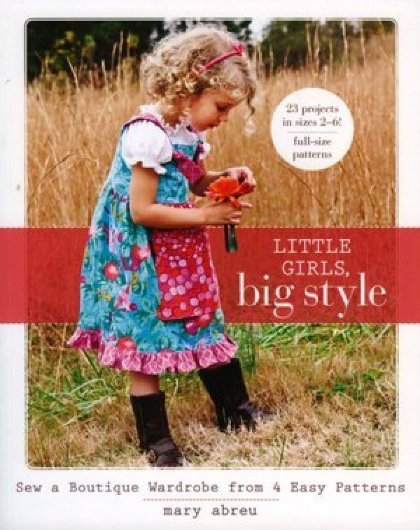 FREE - Basic Sewing Class - Apron Dress on Front Cover of the Little ...