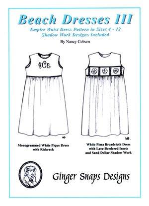 Beach Dresses III - Empire Waist - Ginger Snaps Designs
