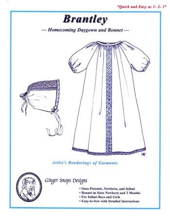 Brantley - Homecoming Daygown & Bonnett - Ginger Snaps Designs