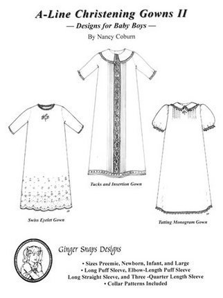 A-Line Christening Gowns II - Ginger Snaps Designs