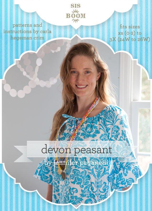 4786a6479565 Devon Peasant Top or Dress for Women - PDF Pattern - by Sis Boom
