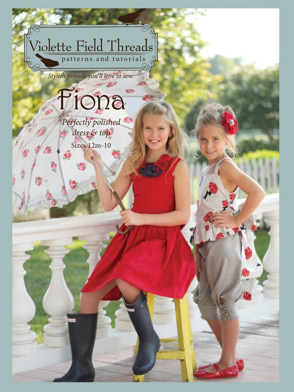 Fiona Dress & Top - Sizes 12 Months to 10 - Violette Field Threads