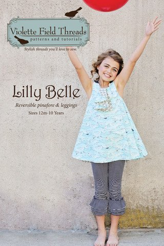 Lilly Belle Pinafore and Leggings- Sizes 12 Months to 10 - Violette Field Threads