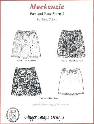Mackenzie - Fast & Easy Skirts I - Ginger Snaps Designs