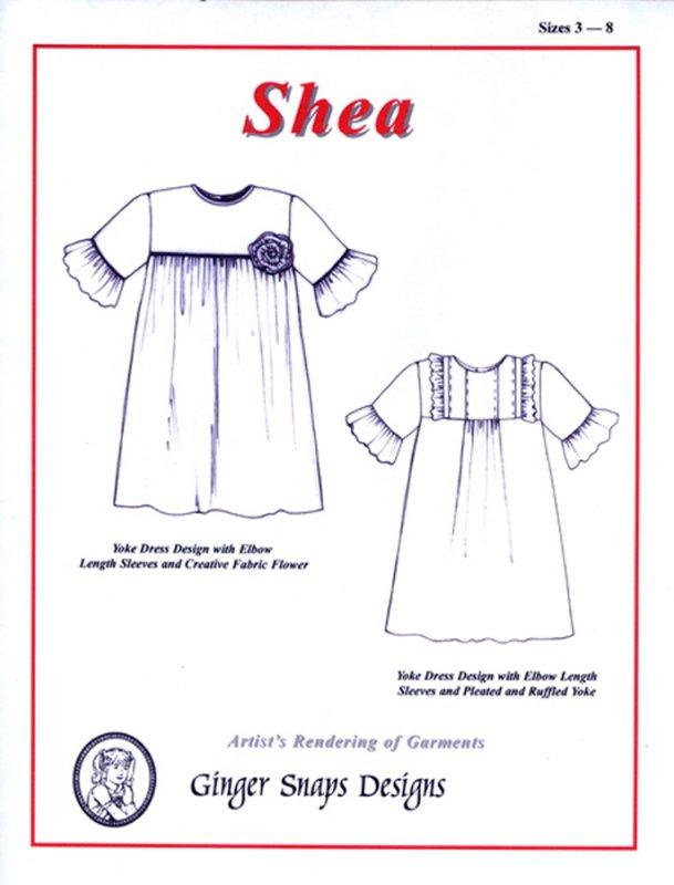 Shea Yoke Dress - by Ginger Snaps Designs