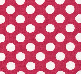 White Dots on Raspberry - by Fabric Finders