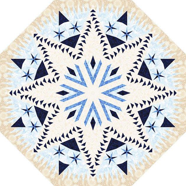 Celestial Snowfall Bohemian Blues 62 Octagon