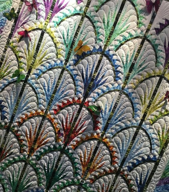 Clamshell Quilt Kit In Timeless Treasures Judy Niemeyer Wildflowers