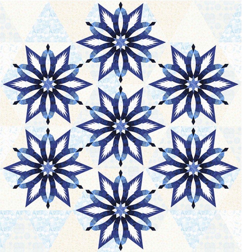 Diamond Wedding Star Bohemian Blues 96 x 99