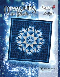 Diamonds in Bloom Bohemian Blues   100 x 100