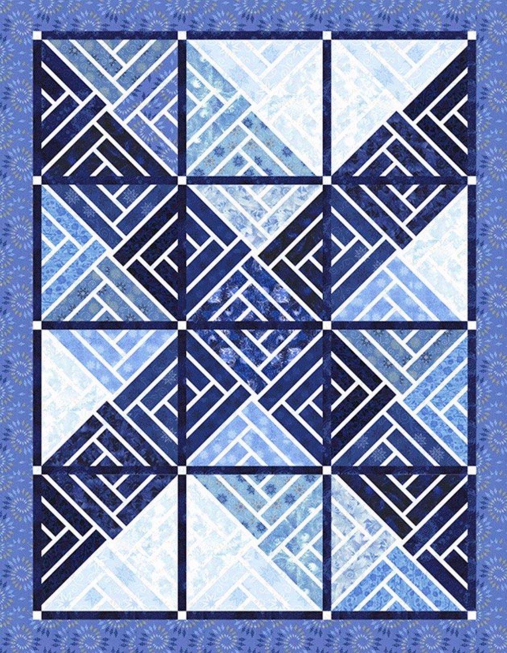 Fractured Paintbox Bohemian Blues 60 x 77