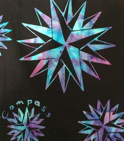 Compass LOGO Fabric in Hydrangea