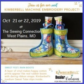 Kimberbell Embroidery Workshop Oct 2019