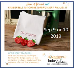 Kimberbell Strawberry Tea Towel