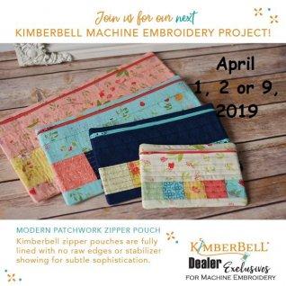 Kimberbell Workshop Zippered Bag April 2019