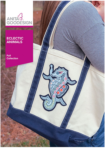 Anita Goodesign Eclectic Animals Embroidery Designs (Full Collection)