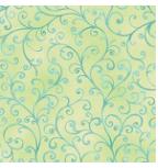 Ariel Scroll Lt Green 100% Cotton Fabric by QT
