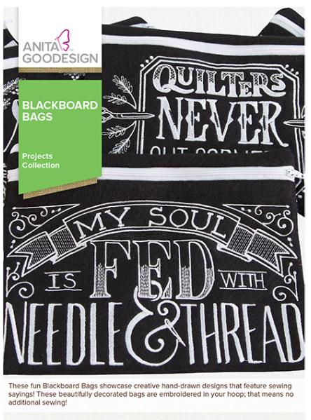 Anita Goodesign Blackboard Bags