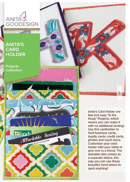 Anita Goodesign Anita's Card Holder