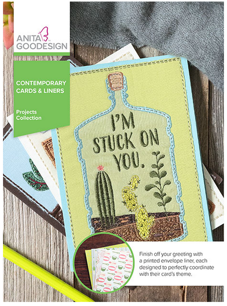 Anita Goodesign Contemporary Cards & Liners Project Collection Embroidery Designs