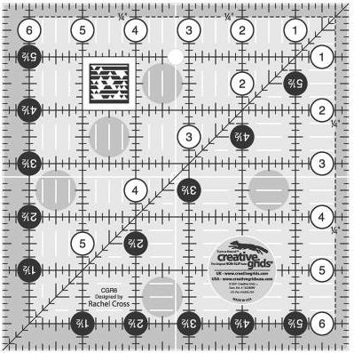 Creative Grids 6.5 x 6.5 Ruler