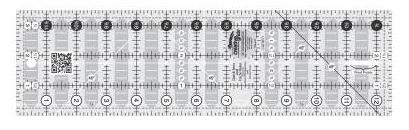 Creative Grid Non-Slip Quick Trim Ruler 3 1/2 x 12 1/2