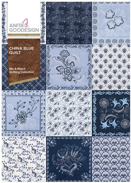 Anita Goodesign China Blue Quilt Embroidery Design