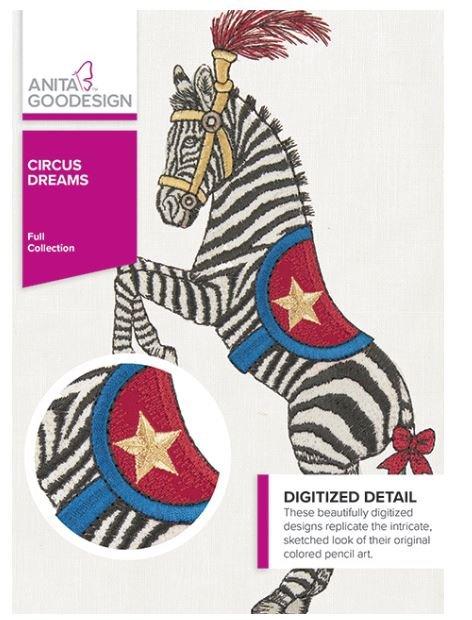 Anita Goodesign Circus Dreams Embroidery Designs