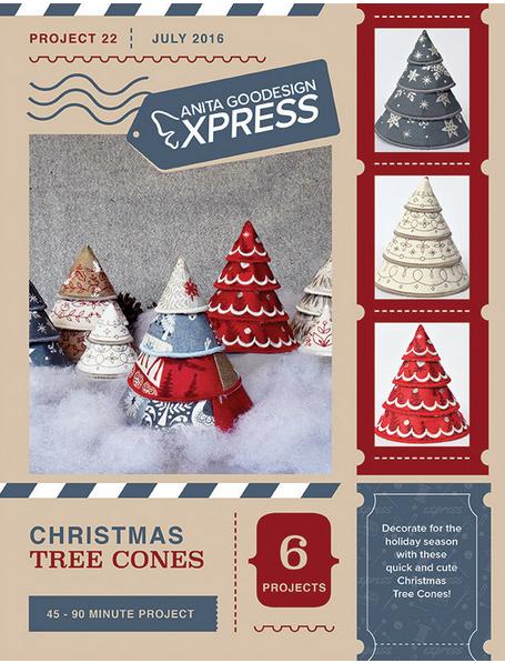 Anita Goodesign Express Christmas Tree Cones Embroidery Design