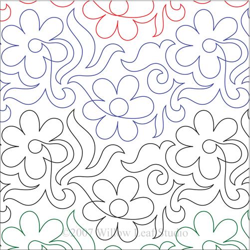DAISY SWIRL | Paper Version ClothWerx Quilting Pattern