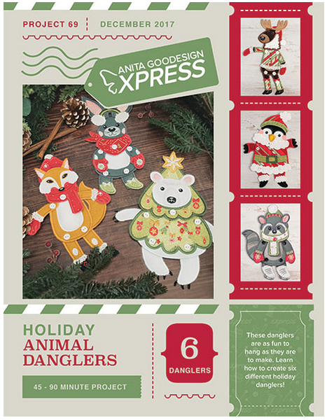 AG Express Holiday Animal Danglers Embroidery Designs