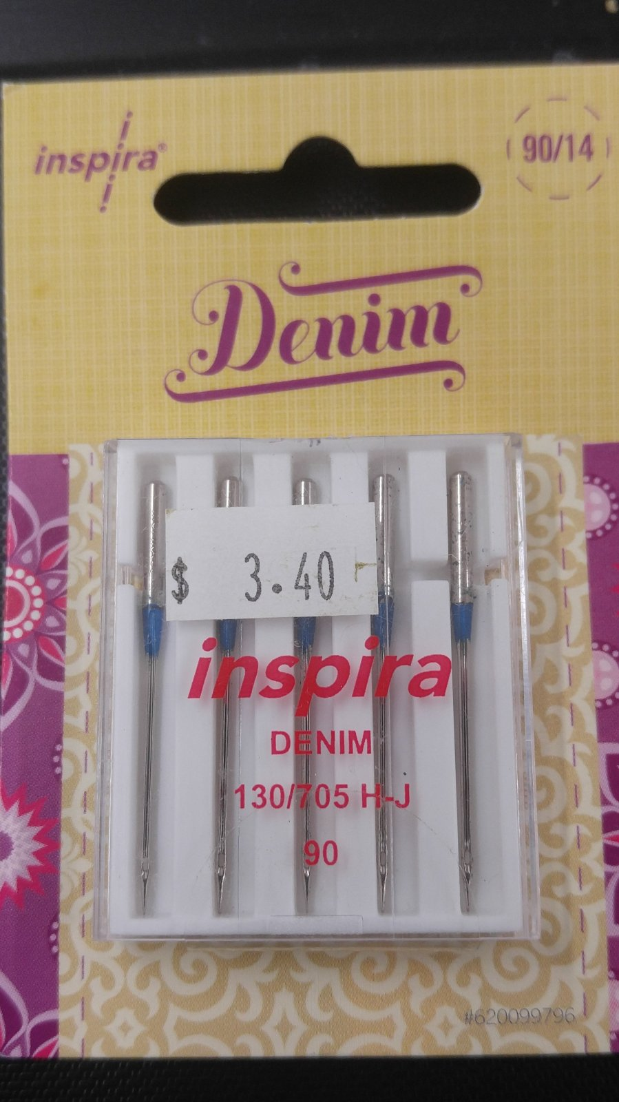 Inspira Denim 90/14 Needles (5Pack)