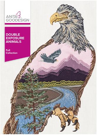 Anita Goodesign Double Exposure Animals Embroidery Design